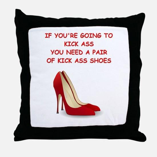 red high heels Throw Pillow