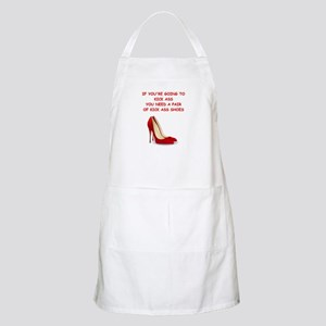 red high heels Apron
