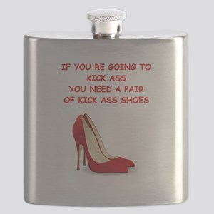 red high heels Flask