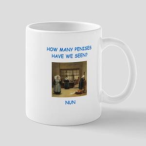 sick nun joke Mugs