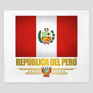 Flag of Peru King Duvet