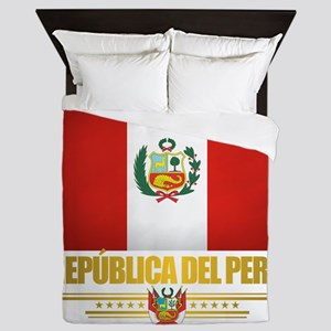 Flag of Peru Queen Duvet