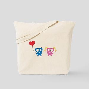 Monster in Love Tote Bag