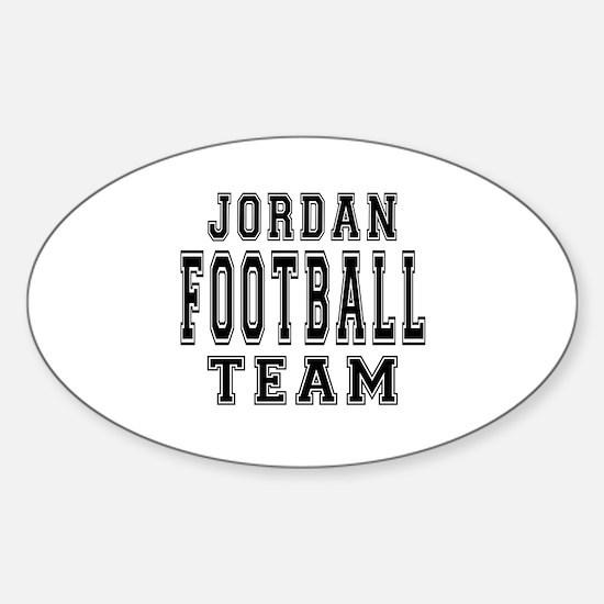 Jordan Football Team Sticker (Oval)