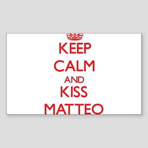 Keep Calm and Kiss Matteo Sticker