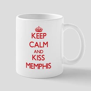 Keep Calm and Kiss Memphis Mugs