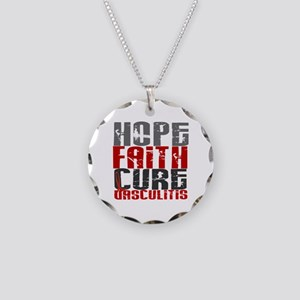 Vasculitis Hope Faith Cure 1 Necklace Circle Charm