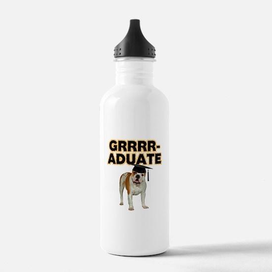 Graduation Bulldog Water Bottle