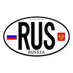 Russia Euro-style Code Oval Sticker