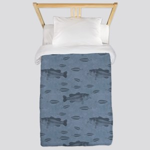 Bass On Blue Twin Duvet