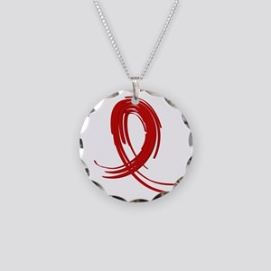 Vasculitis Graffiti Ribbon 2 Necklace Circle Charm