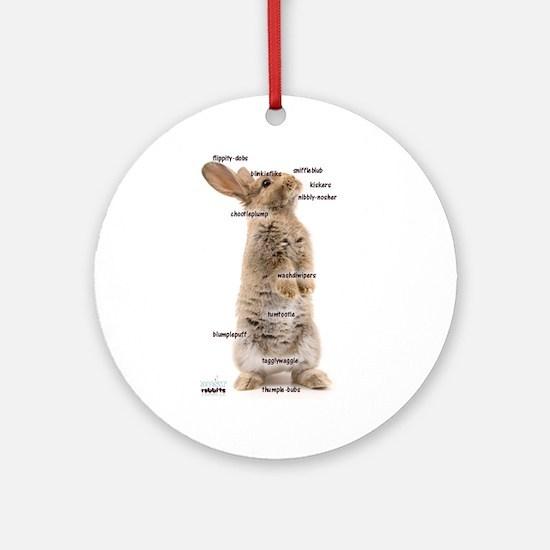 Bunny Bits Ornament (Round)