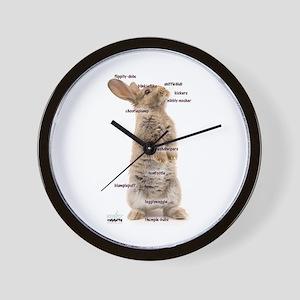 Bunny Bits Wall Clock