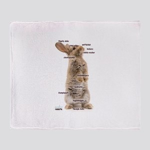 Bunny Bits Throw Blanket