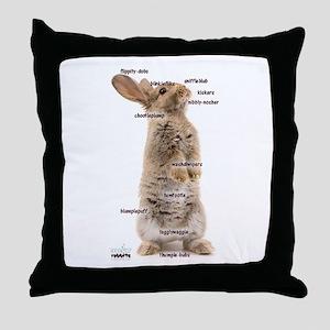 Bunny Bits Throw Pillow