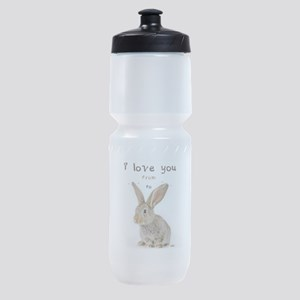 I Love You from Ear to Ear Sports Bottle