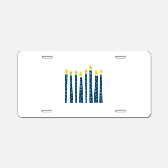 Hanukkah Candles Aluminum License Plate