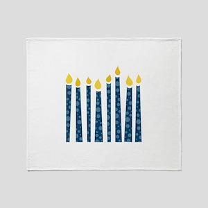 Hanukkah Candles Throw Blanket