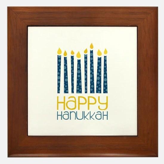 Happy Hanukkah Framed Tile
