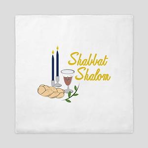 Shabbat Shalom Queen Duvet
