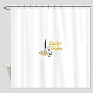 Shabbat Shalom Shower Curtain