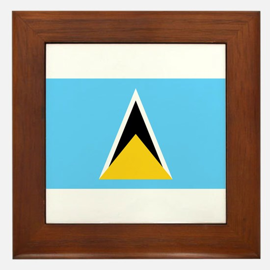Saint Lucia Framed Tile