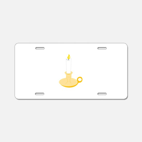 Candlestick Aluminum License Plate