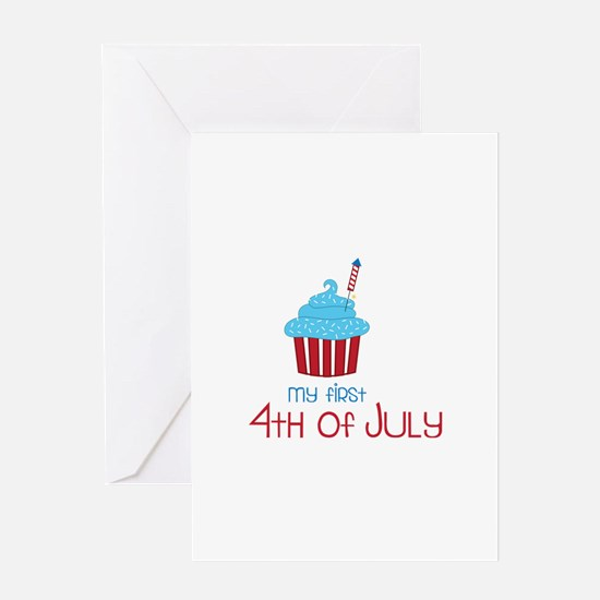 My First 4th Of July Greeting Cards