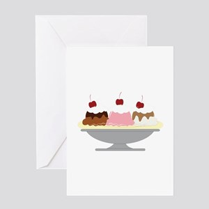 Banana Split Greeting Cards