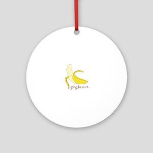 Going Bananas Ornament (Round)