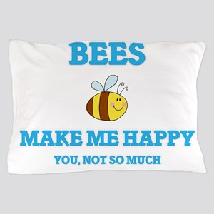 Bees Make Me Happy Pillow Case