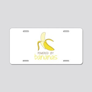Powered By Bananas Aluminum License Plate