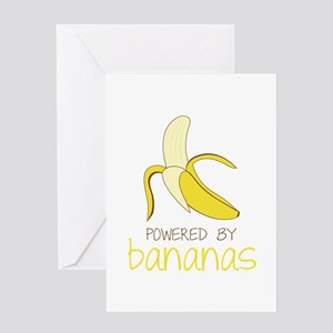 Powered By Bananas Greeting Cards