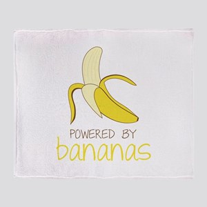 Powered By Bananas Throw Blanket