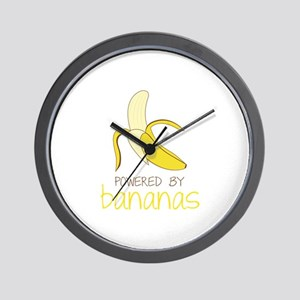 Powered By Bananas Wall Clock