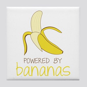 Powered By Bananas Tile Coaster