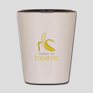 Powered By Bananas Shot Glass
