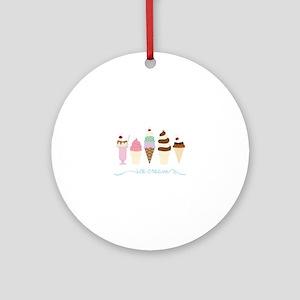 Ice Cream Ornament (Round)