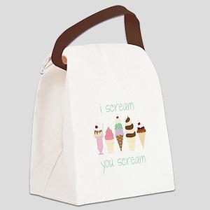 I Scream You Scream Canvas Lunch Bag