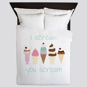 I Scream You Scream Queen Duvet