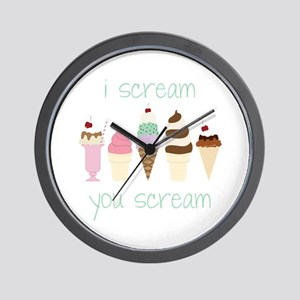I Scream You Scream Wall Clock