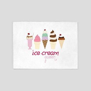 Ice Cream Queen 5'x7'Area Rug