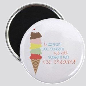 We All Scream For Ice Cream! Magnets