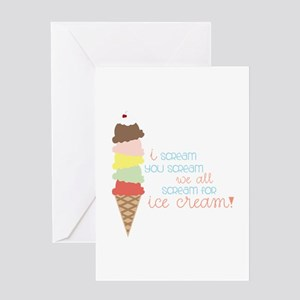 We All Scream For Ice Cream! Greeting Cards
