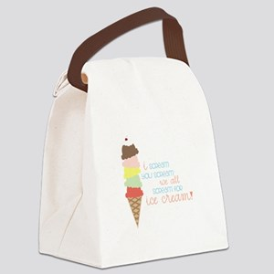 We All Scream For Ice Cream! Canvas Lunch Bag
