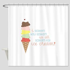 We All Scream For Ice Cream! Shower Curtain