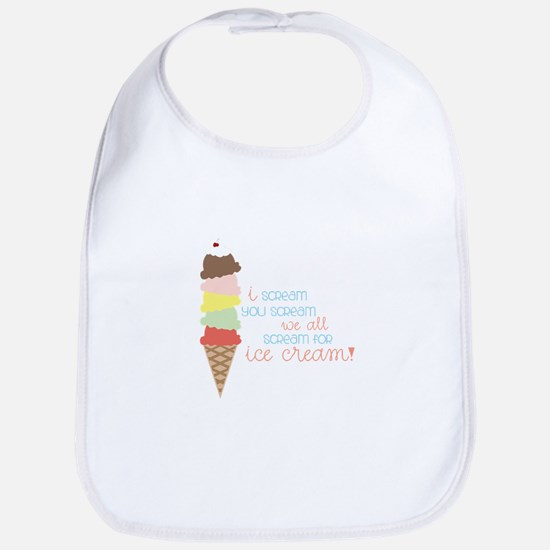 We All Scream For Ice Cream! Bib