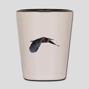 Green Heron Shot Glass