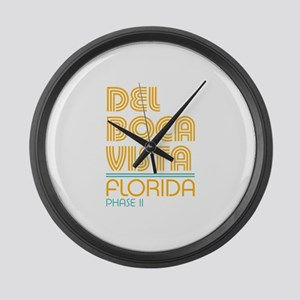 Del Boca Vista Florida Large Wall Clock