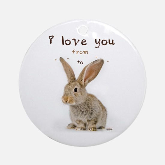 I Love You from Ear to Ear Ornament (Round)